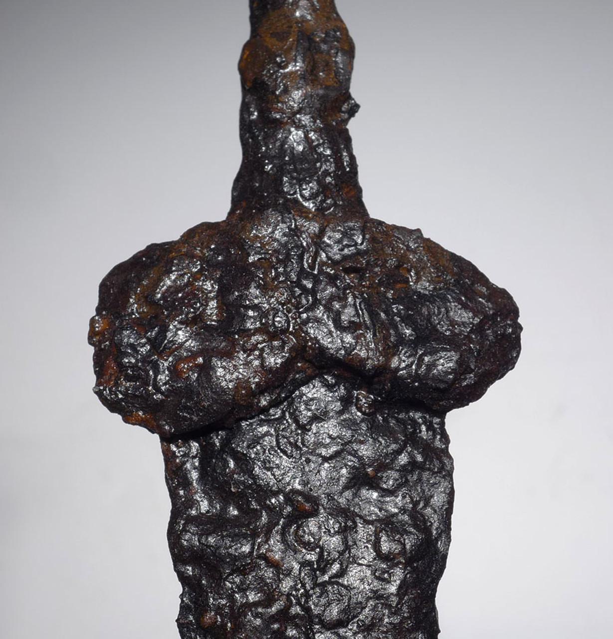EXTREMELY RARE EUROPEAN SCYTHIAN ANCIENT IRON ASYMMETRIC BLADE AKINAKES DAGGER FROM THE BLACK SEA REGION *SC02