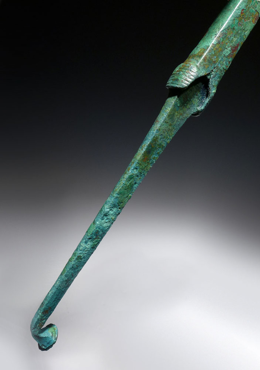 LARGE MUSEUM-CLASS ANCIENT LURISTAN BRONZE SPEAR LANCE HEAD WITH LONG TANG *LUR118