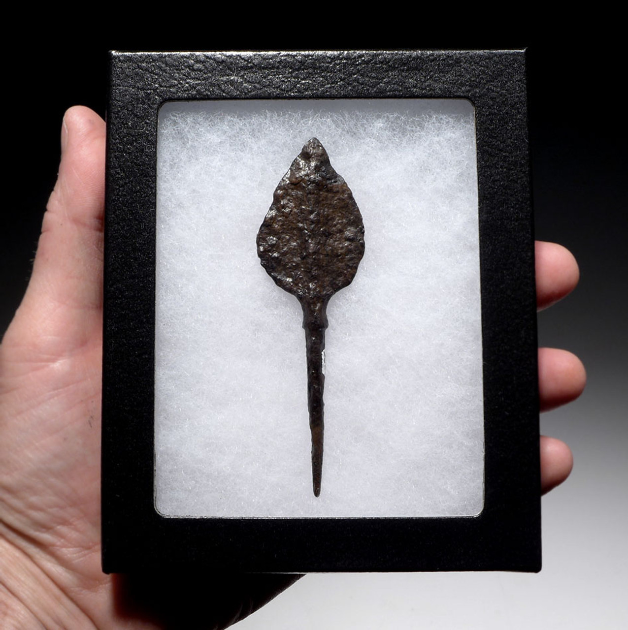 WELL-PRESERVED TEARDROP ANTI-CAVALRY BYZANTINE ROMAN IRON ARROWHEAD *R194