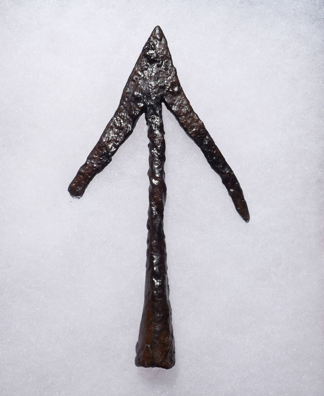 RARE COMPLETE ANCIENT SWALLOWTAIL BROAD HEAD HUNTING ARROWHEAD FROM THE LATE BYZANTINE ROMAN EMPIRE *R195