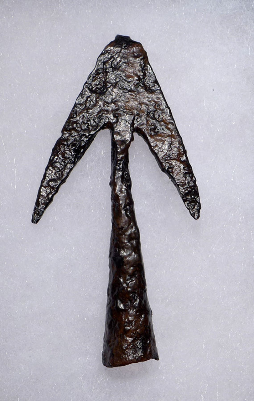 RARE COMPLETE ANCIENT SWALLOWTAIL BROAD HEAD HUNTING ARROWHEAD FROM THE LATE BYZANTINE ROMAN EMPIRE *R203