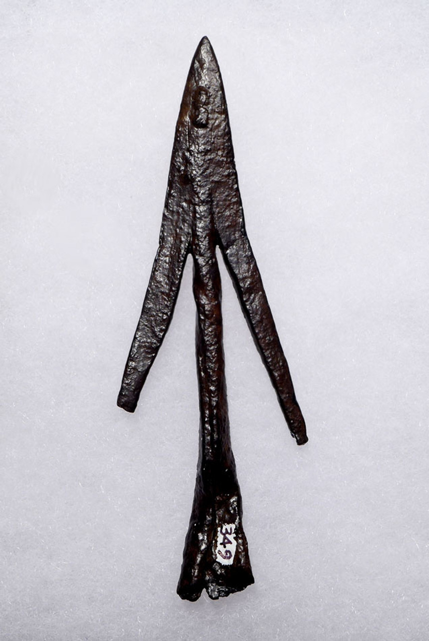 RARE COMPLETE ANCIENT SWALLOWTAIL BROADHEAD HUNTING ARROWHEAD FROM THE LATE BYZANTINE ROMAN EMPIRE *R197