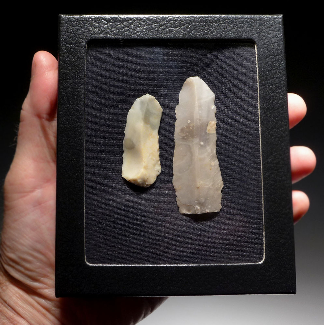 PAIR OF FLINT DANISH NEOLITHIC STONE KNIFE BLADES *N176