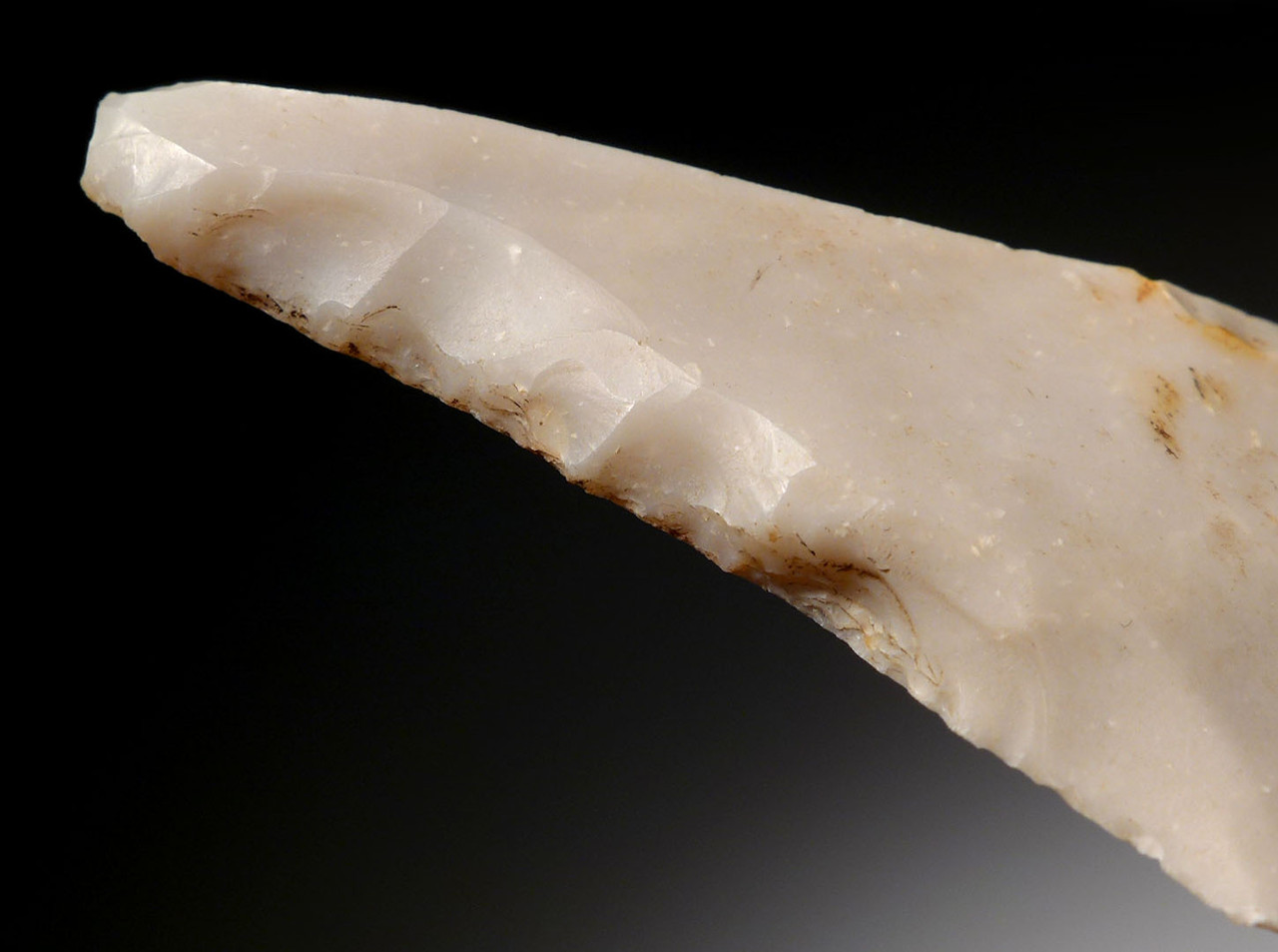 EXCEPTIONAL ELONGATED FLINT NEOLITHIC AWL FLAKE TOOL FROM THE FUNNEL-NECKED BEAKER CULTURE OF DENMARK *N178