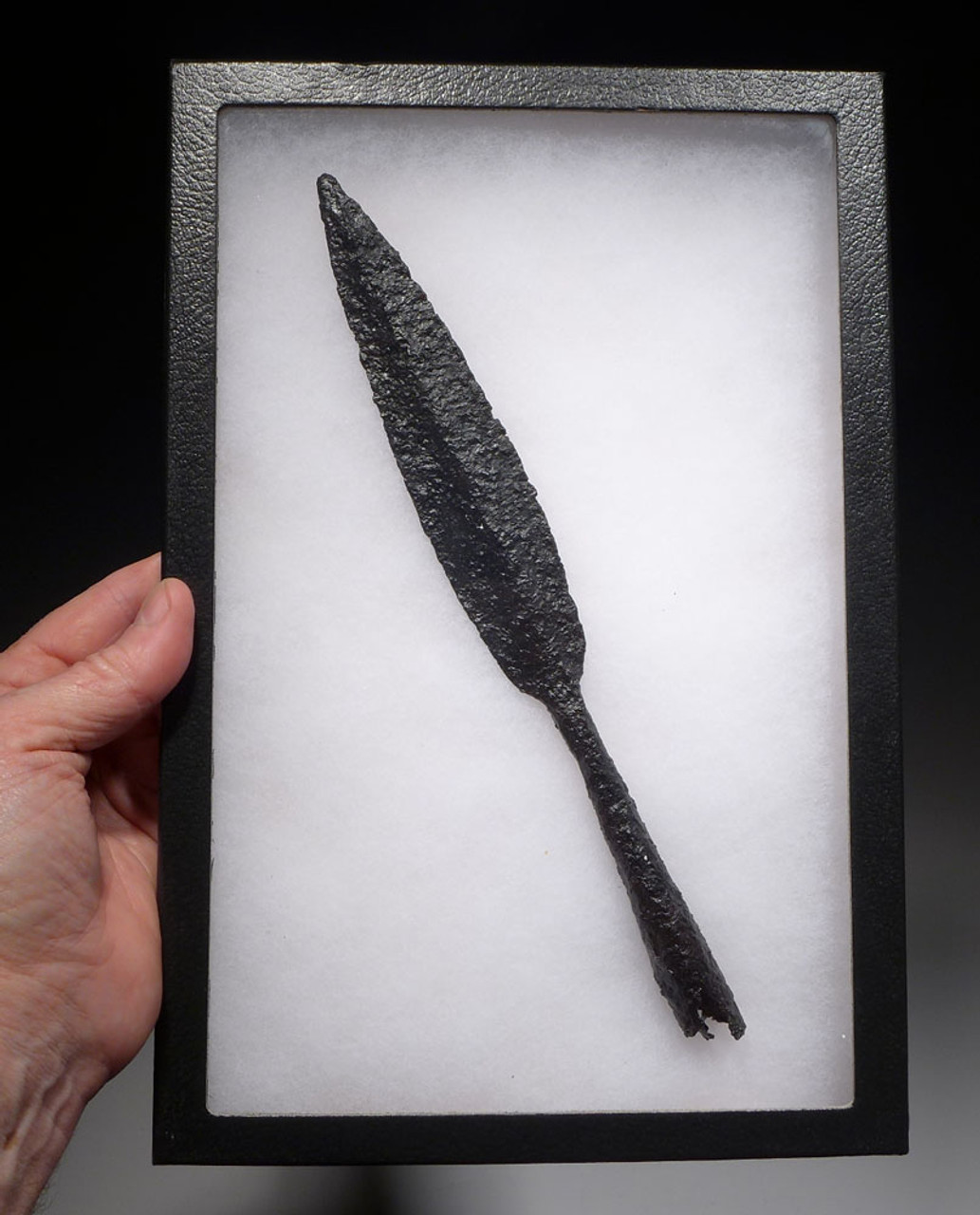 ANCIENT GREEK IRON SPEARHEAD LANCE
