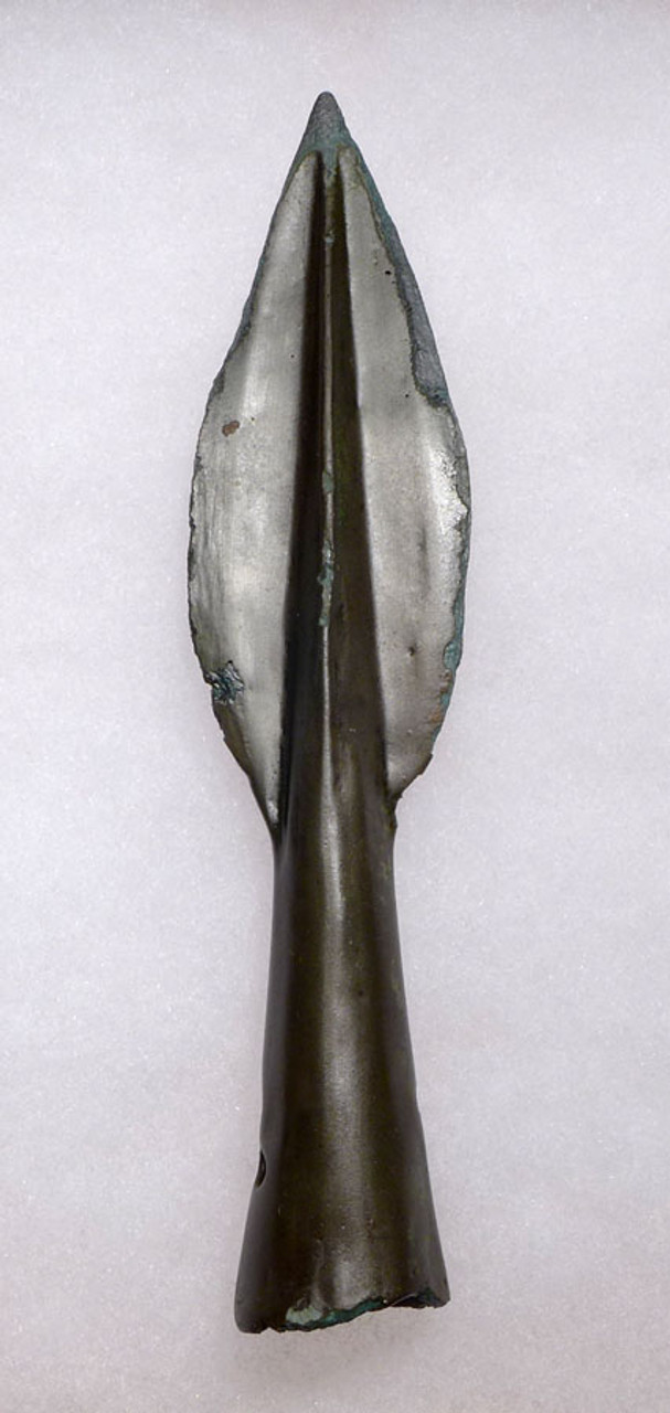FINEST ANCIENT ACHAEMENID BRONZE SPEARHEAD FROM THE FIRST PERSIAN EMPIRE *NE176