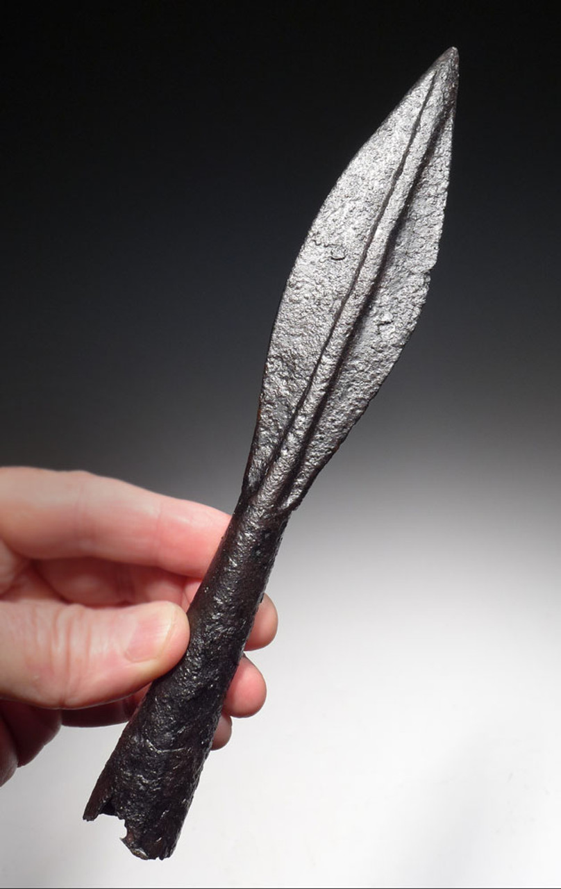 SUPERB ANCIENT ACHAEMENID IRON CHARIOT / CAVALRY SPEARHEAD FROM THE FIRST PERSIAN EMPIRE *LUR300