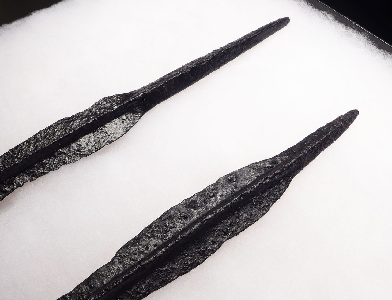 RARE MATCHED PAIR OF ANCIENT ROMAN BYZANTINE CAVALRY ARMOR-PIERCING LANCE SPEARHEADS *BYZR019
