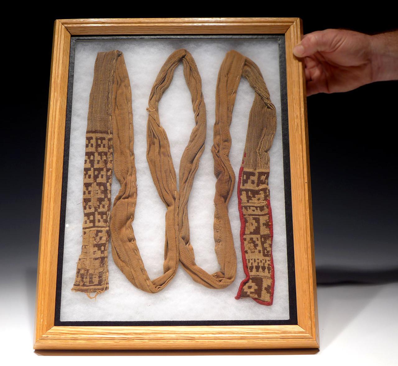RARE EX-MUSEUM PRE-COLUMBIAN COMPLETE WOVEN TEXTILE GARMENT *PCT012
