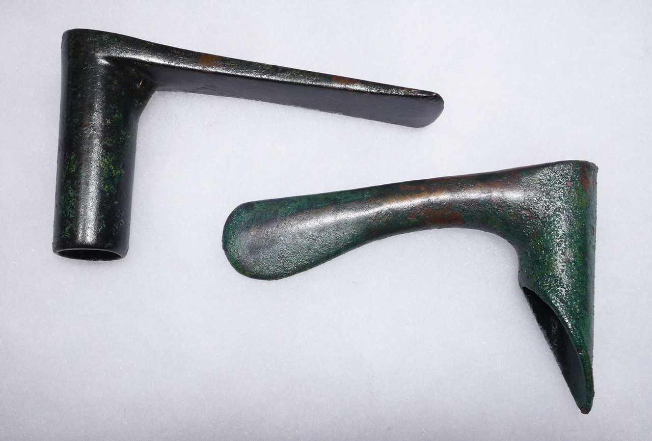 TWO ANCIENT NEAR EASTERN LURISTAN BRONZE ADZE AND AXE WITH FINEST PRESERVATION *NEPC007