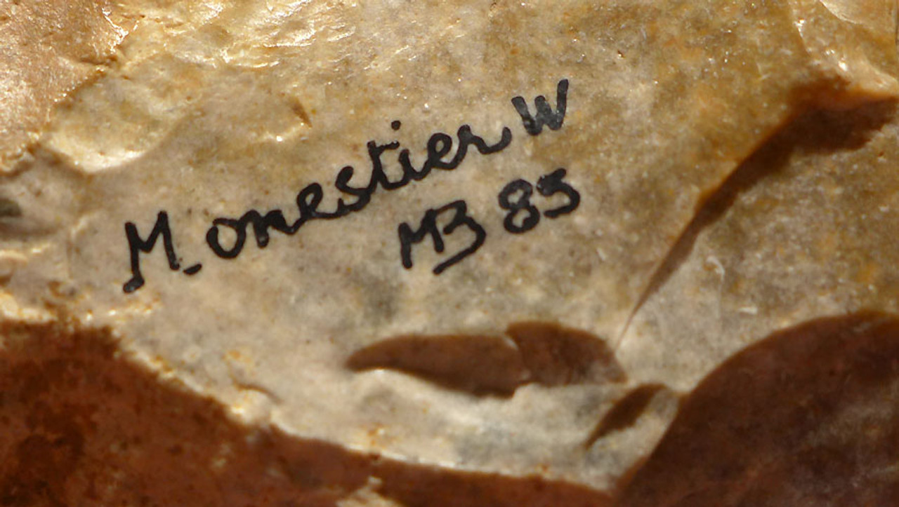 EXCEPTIONAL NEANDERTHAL MOUSTERIAN FLINT CORDIFORM HAND AXE FROM FRANCE *M356