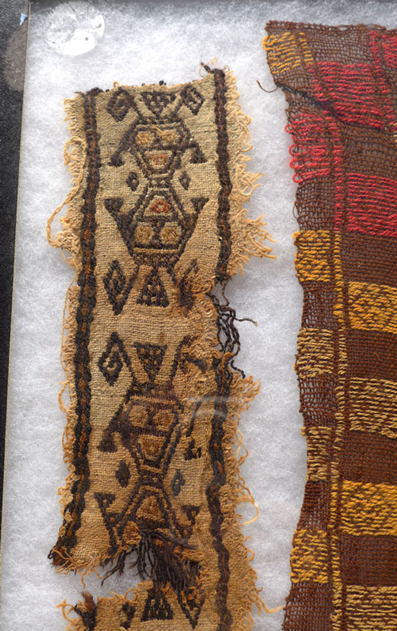RARE PRE-COLUMBIAN ANCIENT TEXTILES FEATURING ALIEN LIKE BEINGS *PCT017