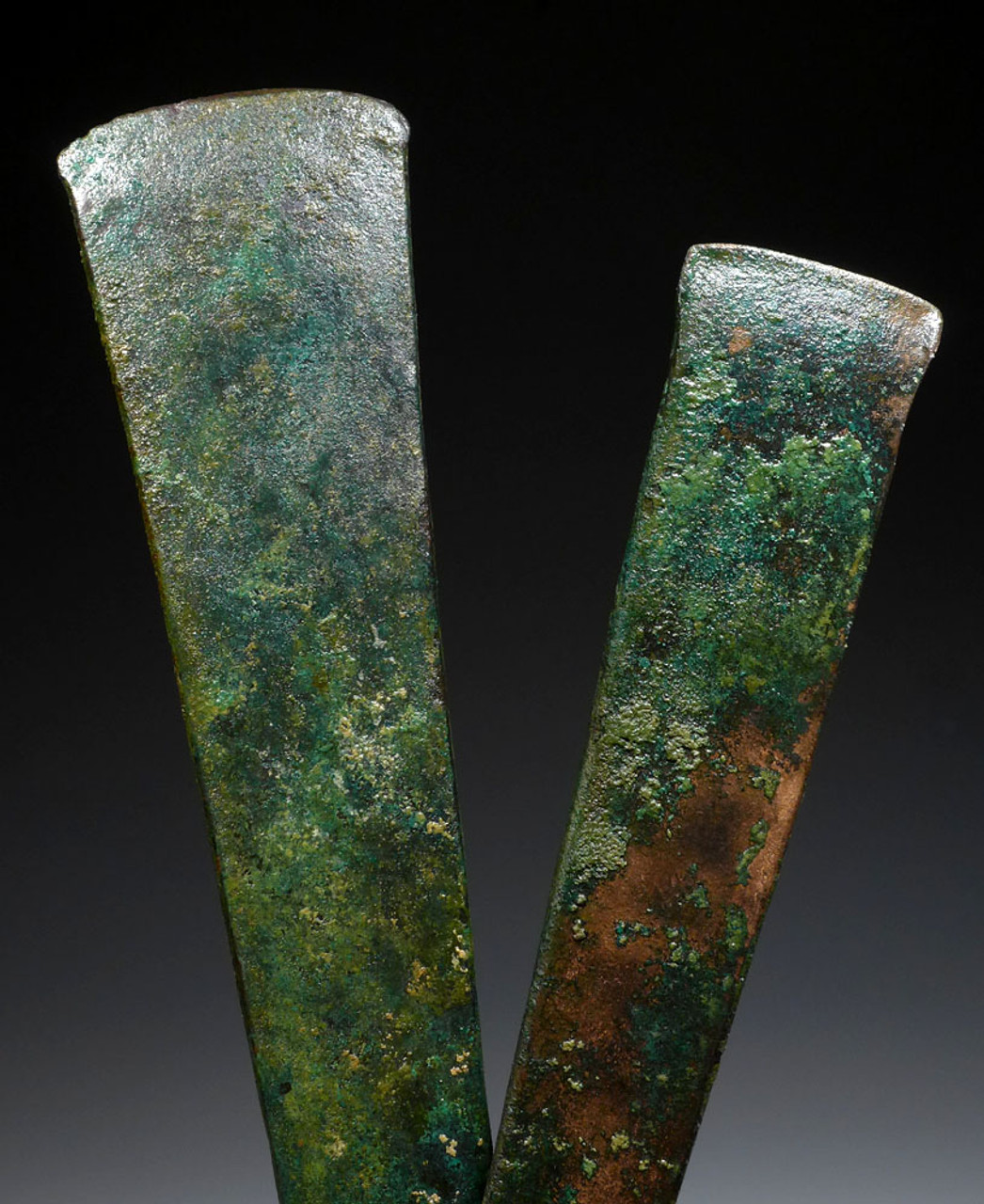 TWO EARLIEST KNOWN METAL AXES ANCIENT CHISEL ADZE AXE BLADES OF THE NEAR EASTERN BRONZE AGE *NEPC008