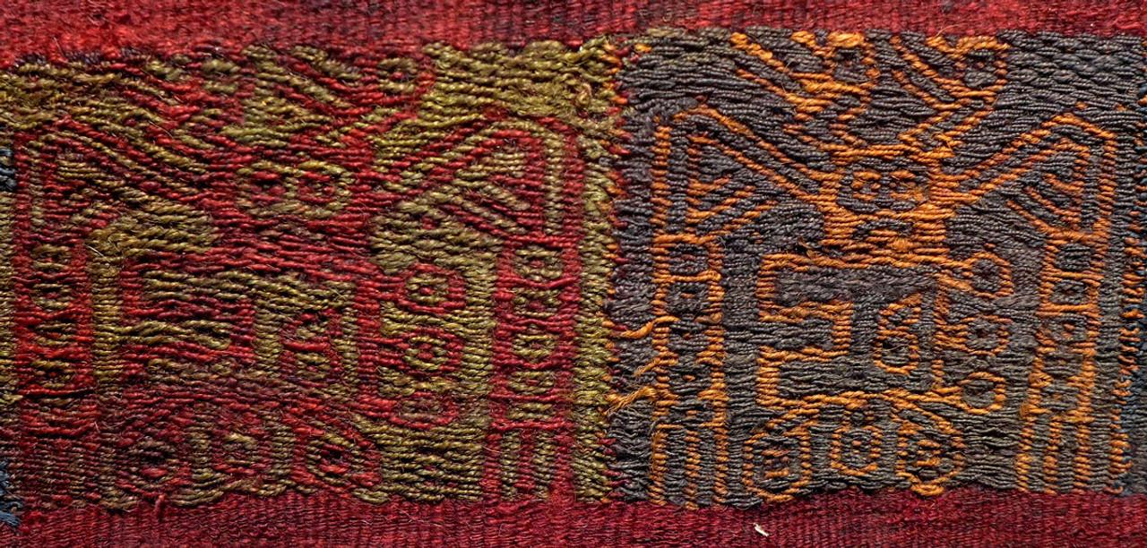 LARGE ANCIENT ALIENS? EX-MUSEUM PRE-COLUMBIAN ANCIENT TEXTILE WEAVING *PCT004