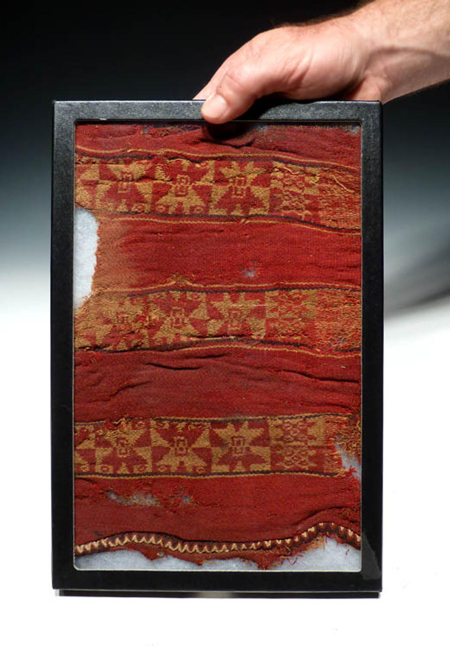 ANCIENT CHIMU CULTURE PRE-COLUMBIAN TEXTILE FROM SOUTH AMERICA *PC025