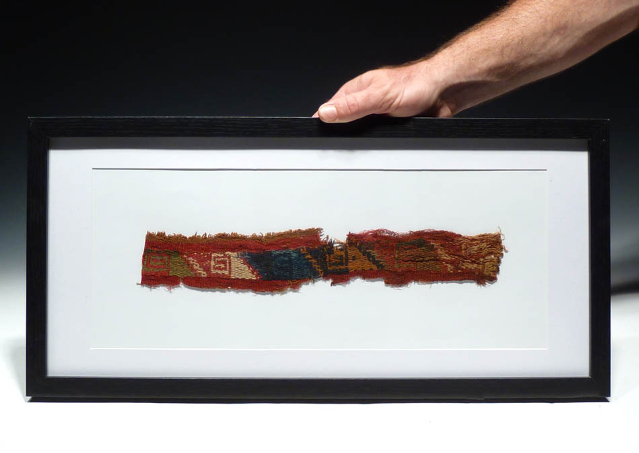 DECORATIVE CHIMU CULTURE PRE-COLUMBIAN WOVEN ANCIENT TEXTILE *PC024