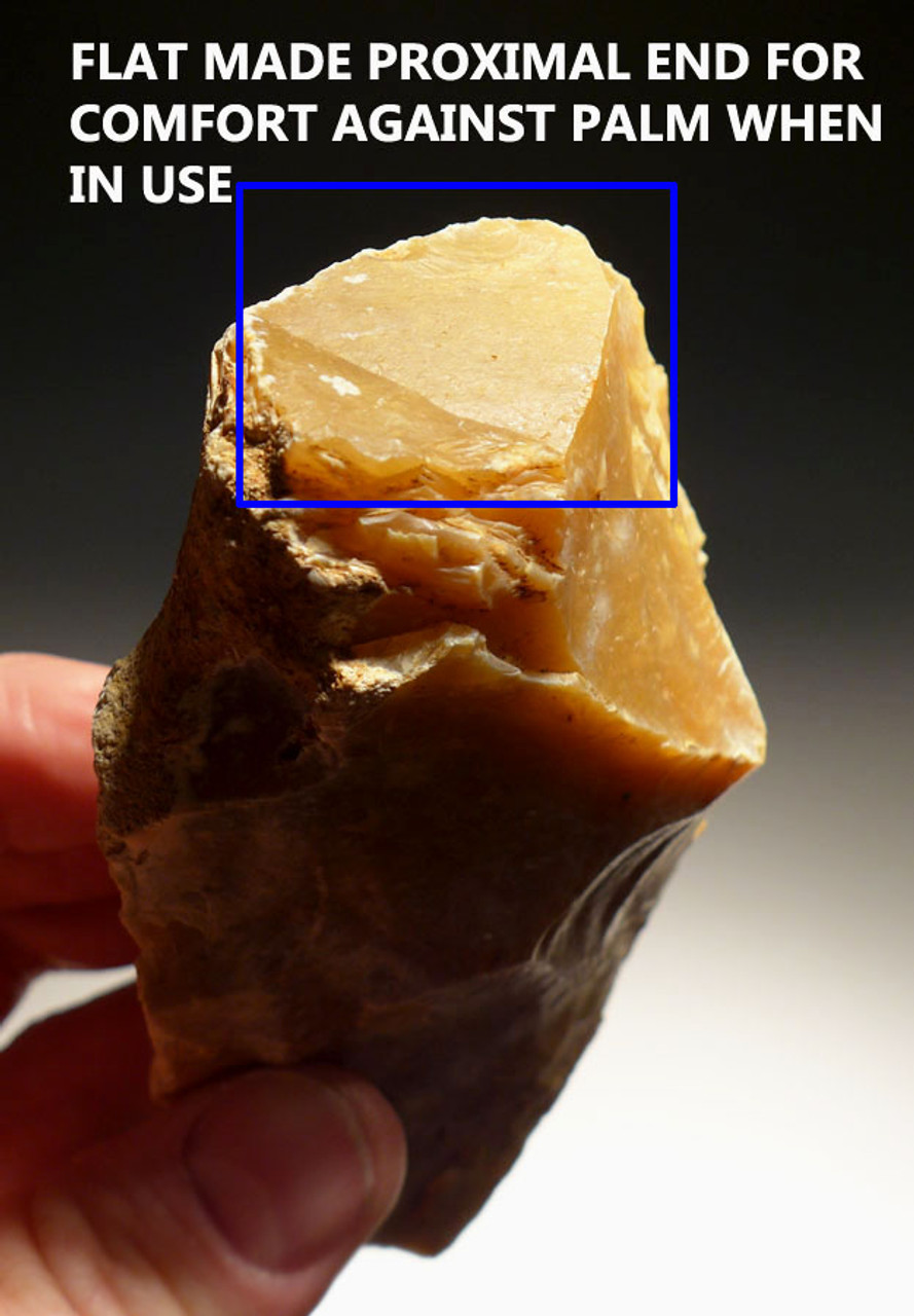 SUPERB FRENCH PREHISTORIC HOMO ERECTUS ACHEULEAN FLINT HANDAXE FROM EUROPE'S FIRST HUMANS *ACH217