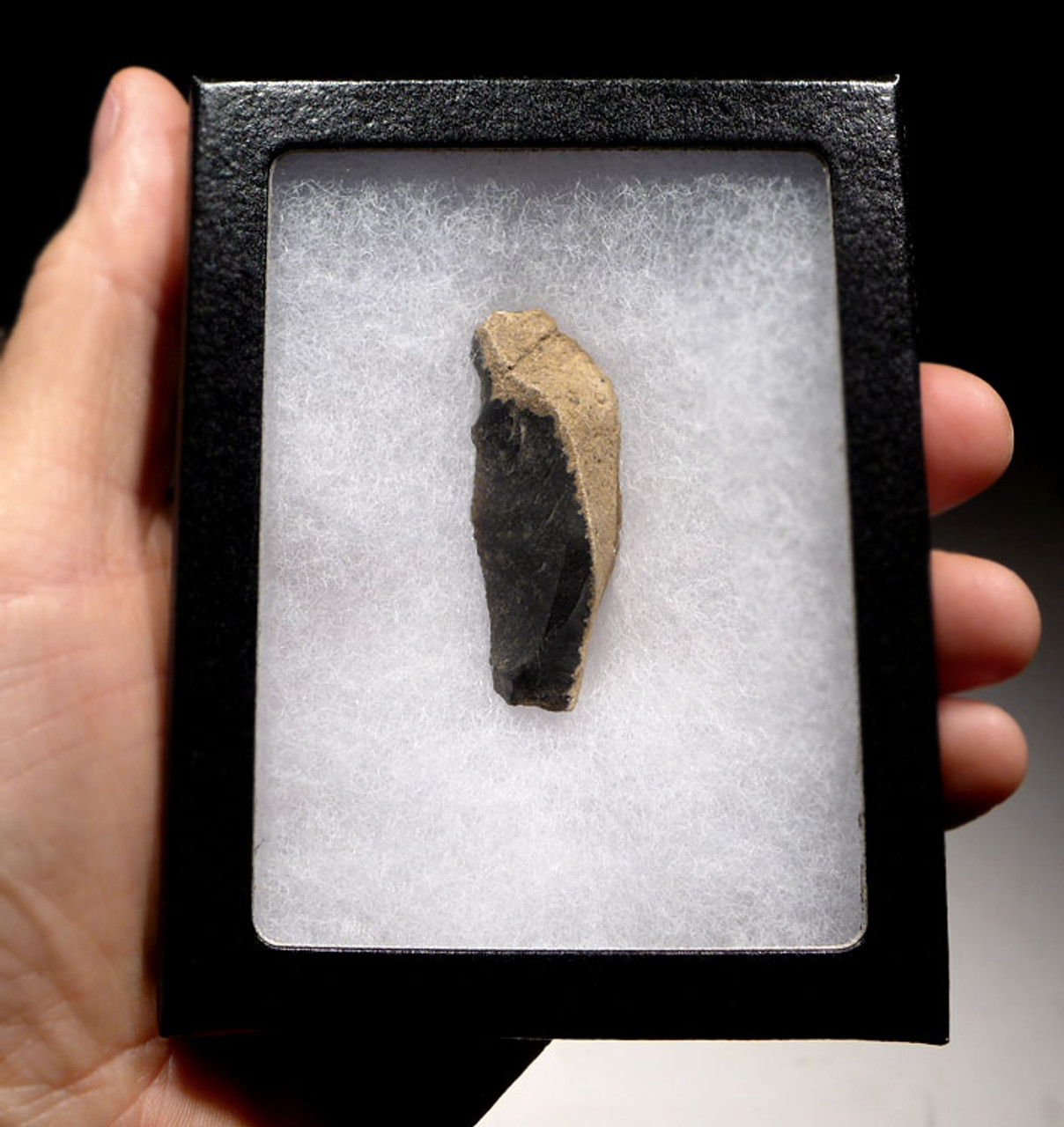 FLINT NEANDERTHAL MOUSTERIAN NATURALLY BACKED KNIFE FROM FRANCE *M373