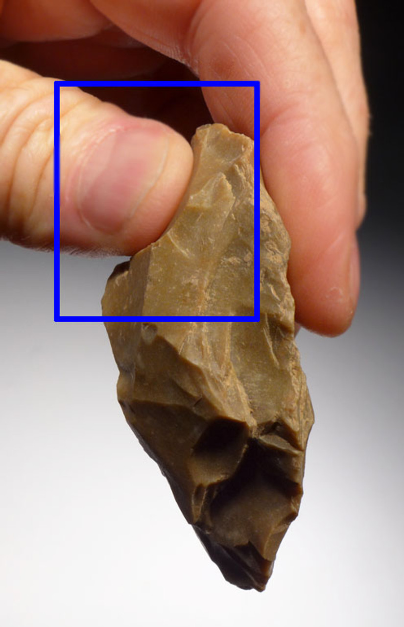 SUPREME NEANDERTHAL MOUSTERIAN FLINT CORDIFORM HAND AXE FROM FRANCE *M340