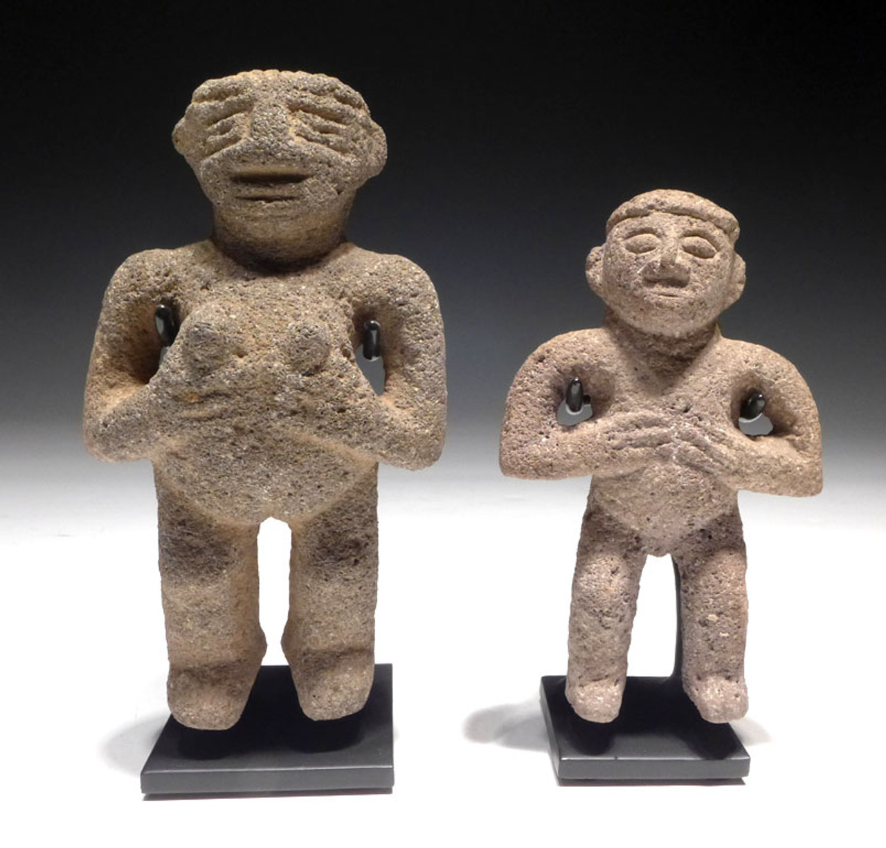 "PRE-COLUMBIAN ""LOVERS"" STONE CARVED FIGURES FROM CENTRAL AMERICA *PCXX03"