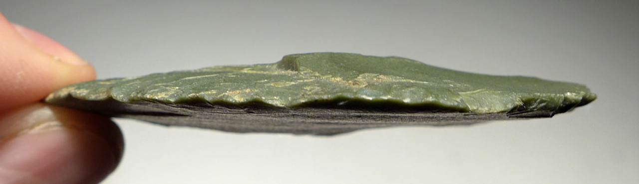 GREEN JASPER DISK SCRAPER FROM THE TENERIAN AFRICAN NEOLITHIC PEOPLE OF THE GREEN SAHARA *CAP197