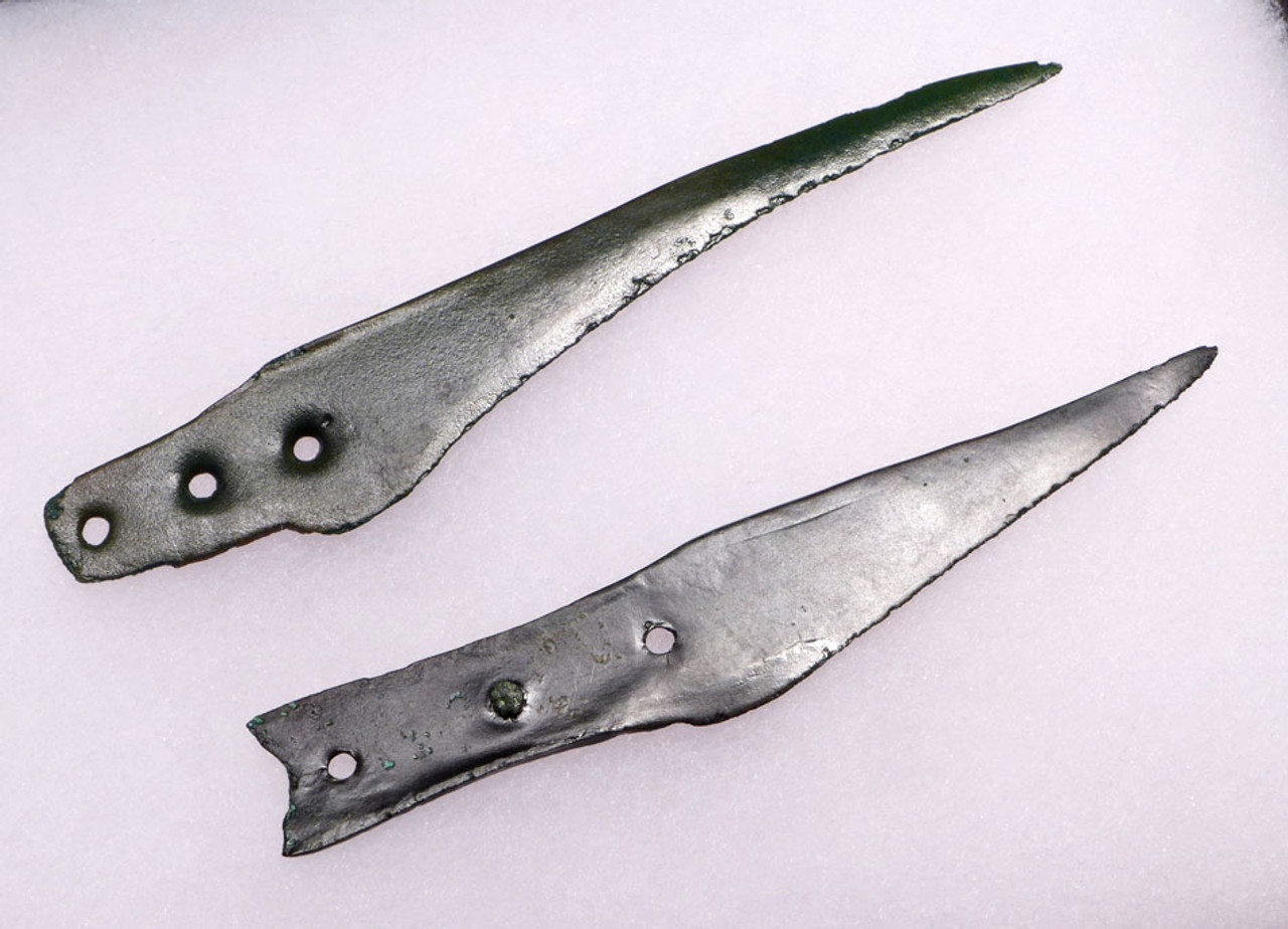 TWO  EUROPEAN BRONZE AGE KNIVES WITH SHARP TIPS AND BLADES *R123