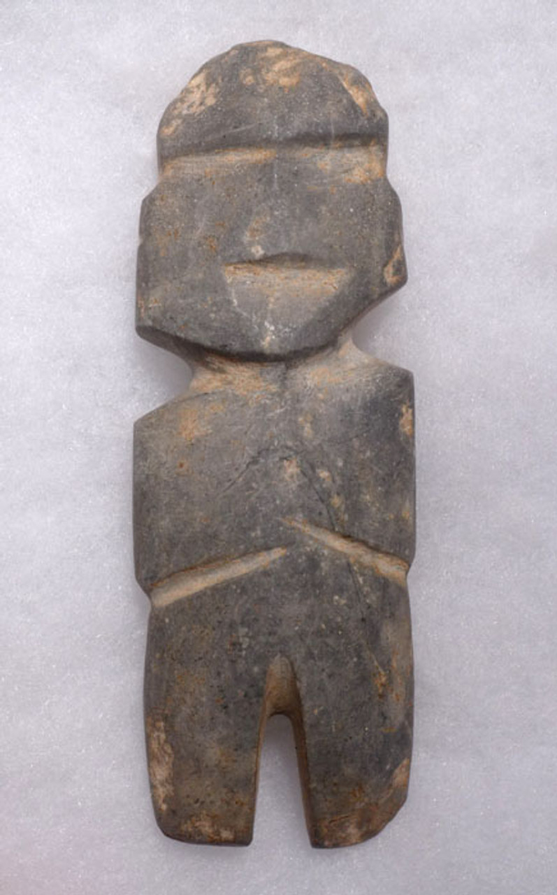 PRE-COLUMBIAN MEZCALA AXE GOD STONE FIGURE