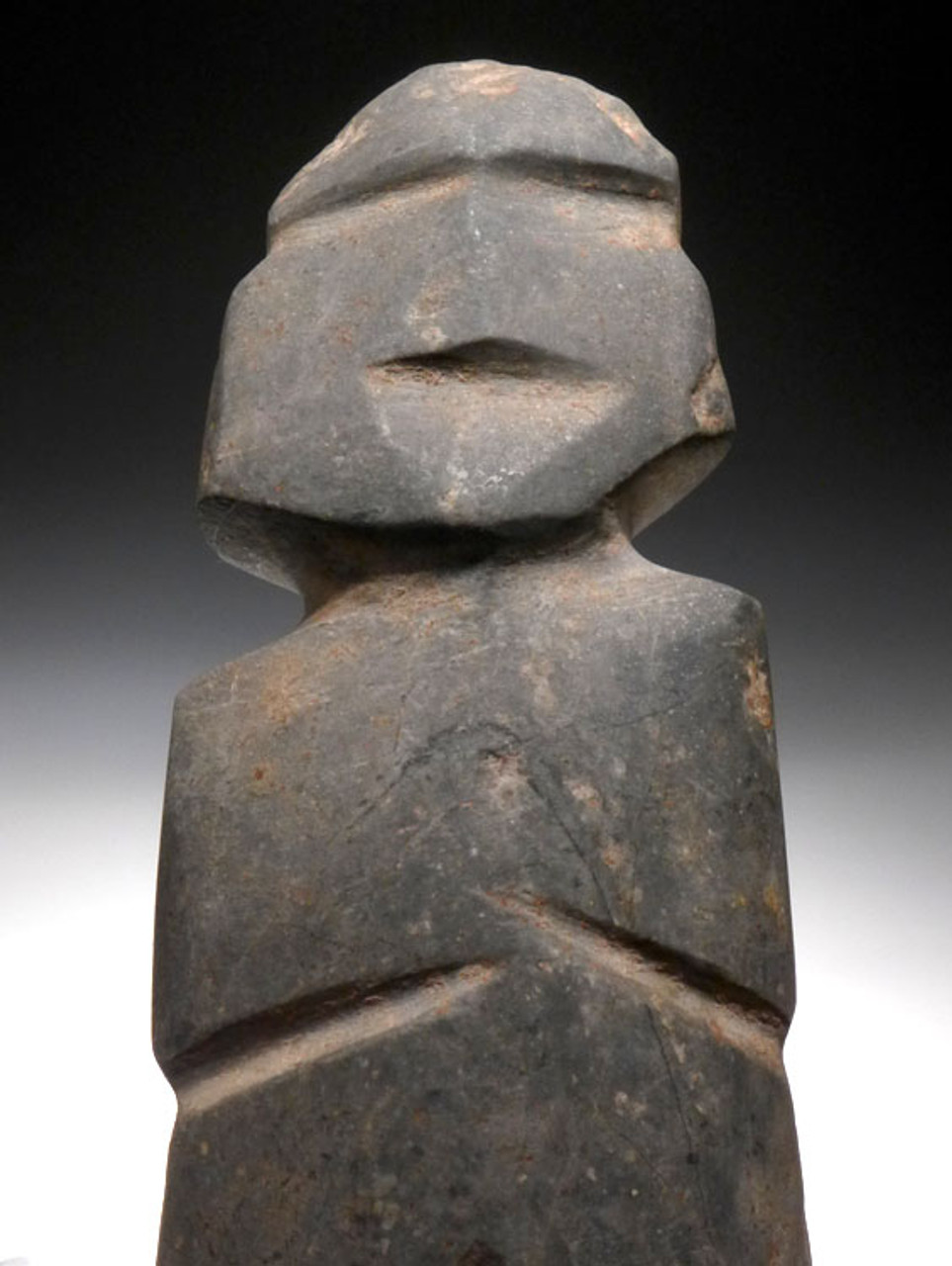 PRE-COLUMBIAN ANCIENT ALIEN STONE FIGURE