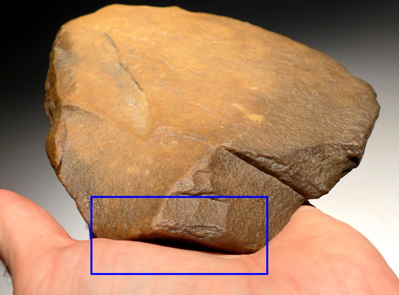 PREHISTORIC AFRICA DISCOIDAL FLAKE SCRAPER TOOL MADE BY HOMO ERGASTER *ACH225