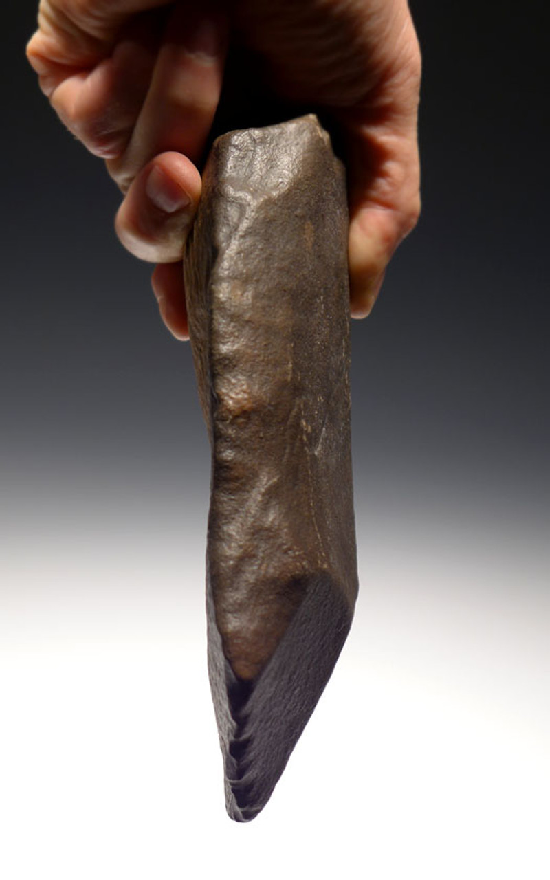 FINEST  MUSEUM EXAMPLE AFRICAN ACHEULIAN CLEAVER HANDAXE WITH INTELLIGENT FEATURES MADE BY HOMO ERGASTER *ACH203