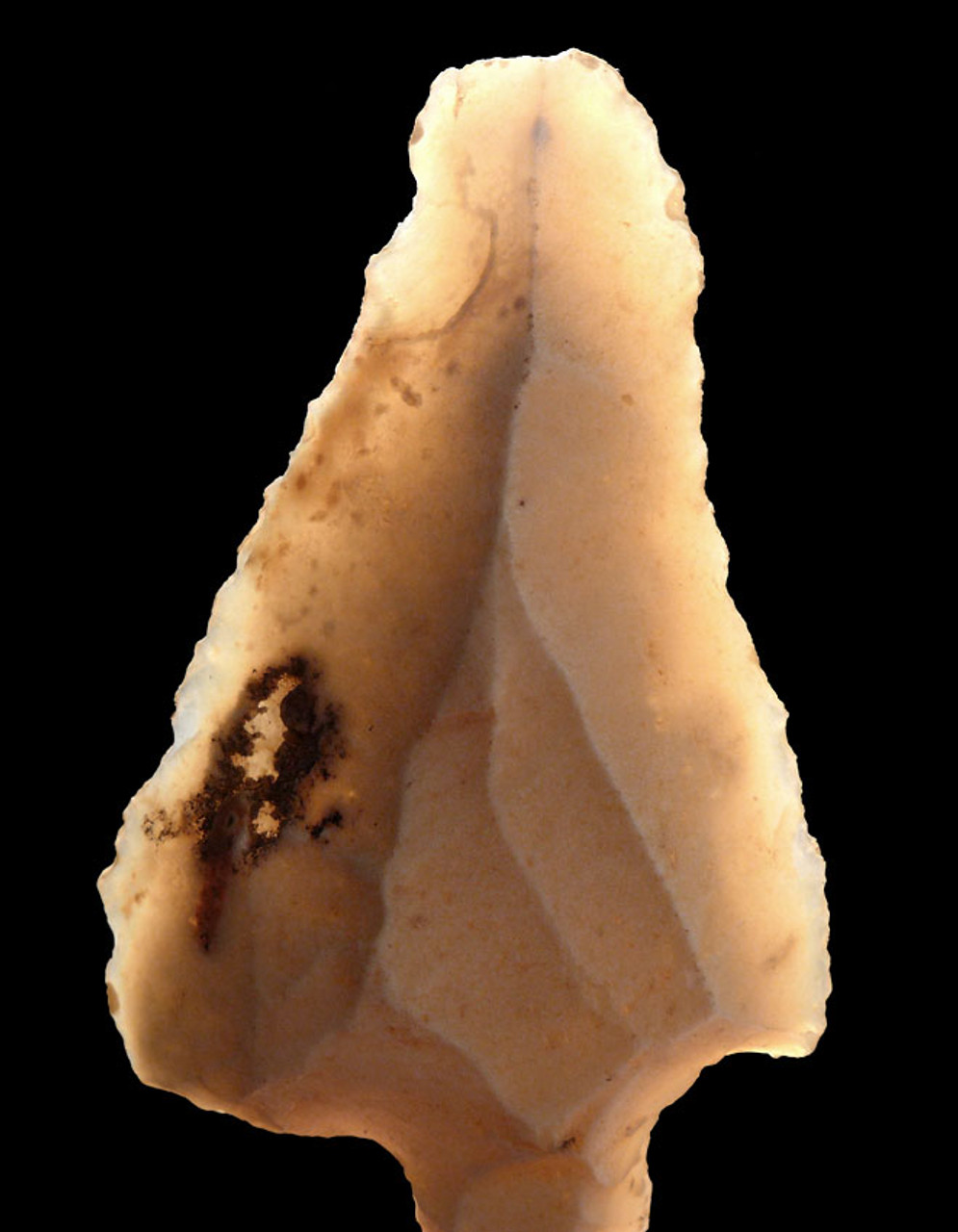 OLDEST ARROWHEAD FINEST LARGE TRANSLUCENT ATERIAN MIDDLE PALEOLITHIC TANGED POINT FROM AFRICA *AT090