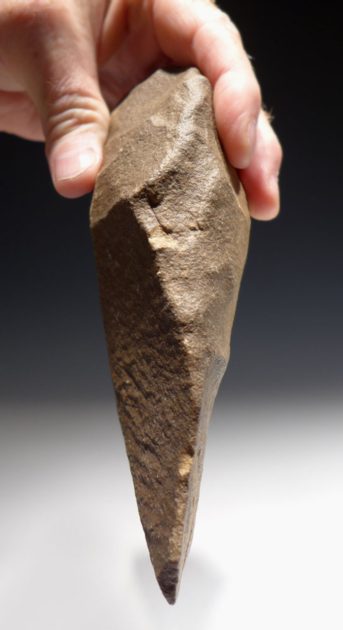 EXCEPTIONAL LARGE HOMO ERGASTER STONE AGE CLEAVER HAND AXE FROM AFRICA *ACH276