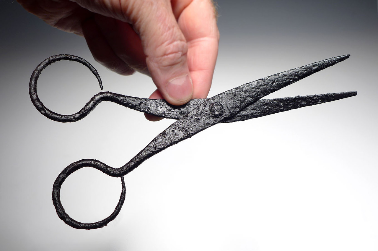 ANCIENT ROMAN BYZANTINE CAVALRY HORSE GROOMING SCISSORS *R227
