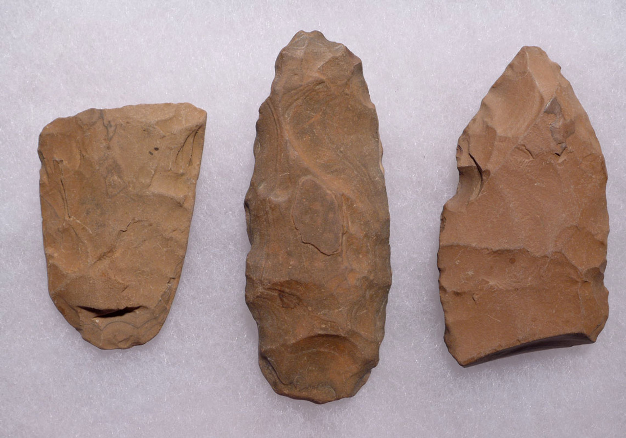 THREE CAPSIAN AFRICAN NEOLITHIC STONE CELT AXES *CAP212