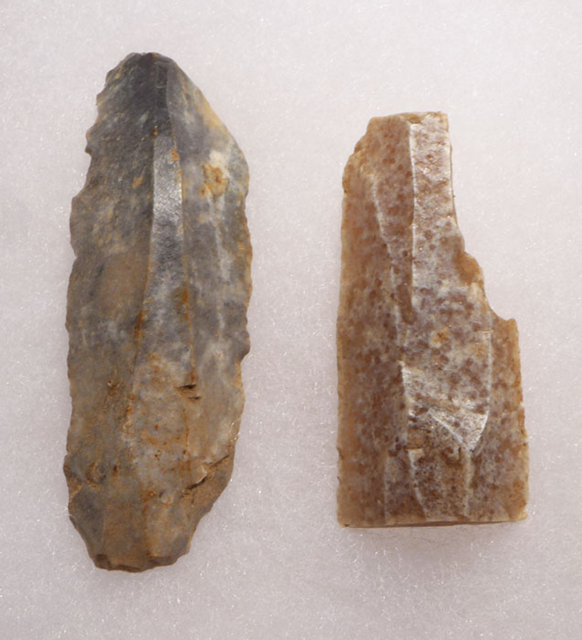 TWO STONE TOOLS FROM FAMOUS CAVE PAINTING SITE IN FRANCE GROTTE DU PLACARD *UP012