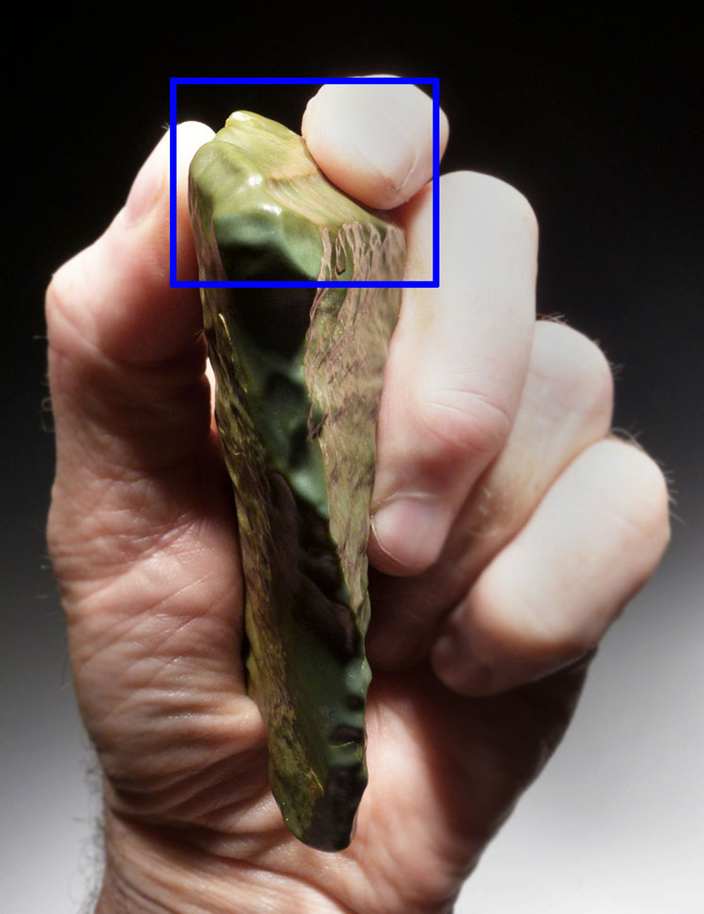 BEAUTIFUL TENERIAN NEOLITHIC LARGE GREEN JASPER FLAKE KNIFE FROM THE TENEREAN CULTURE OF THE GREEN SAHARA *CAP213