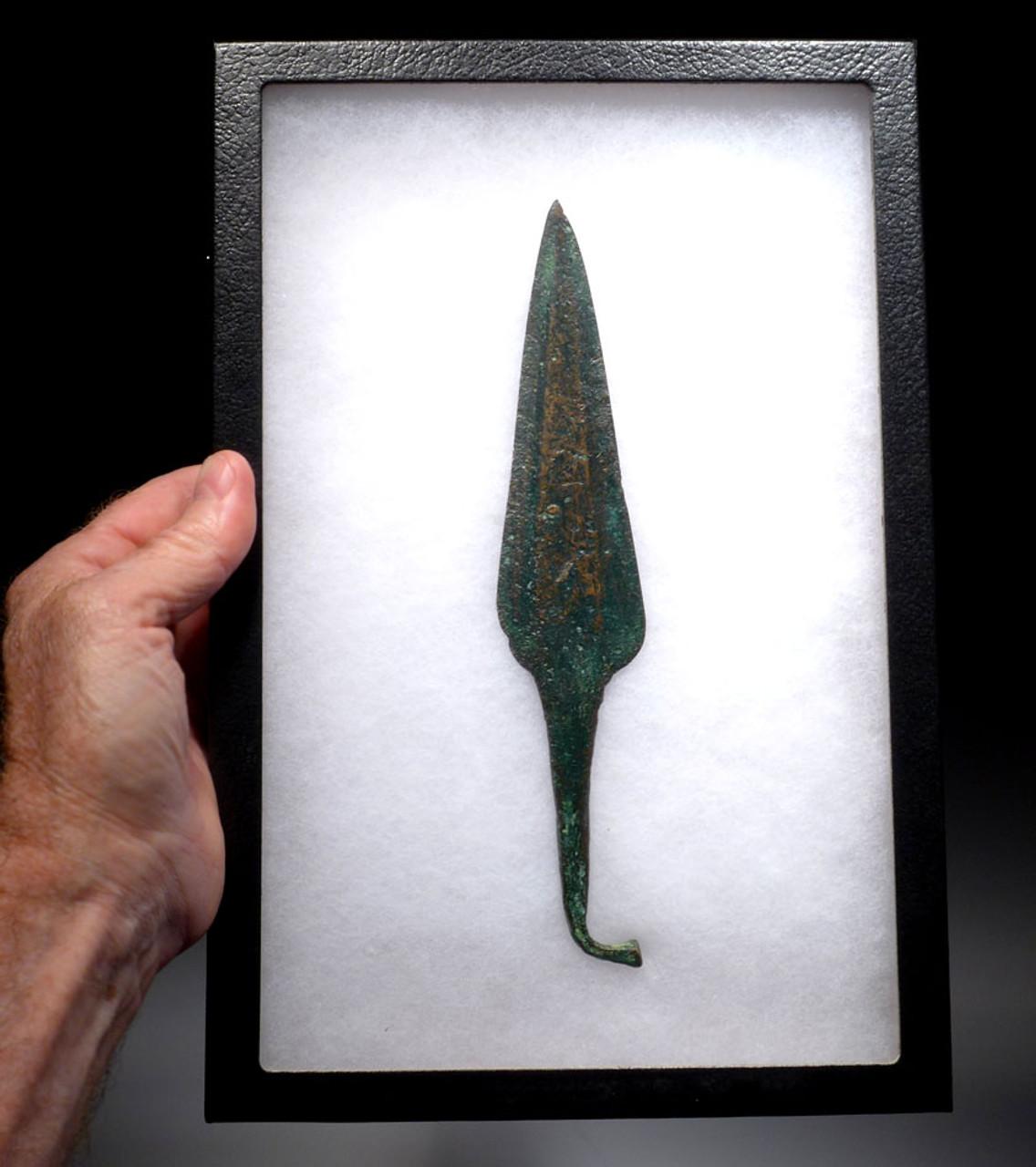 ANCIENT BRONZE NEAR EASTERN LURISTAN RAT TAIL SPEAR HEAD *LUR103