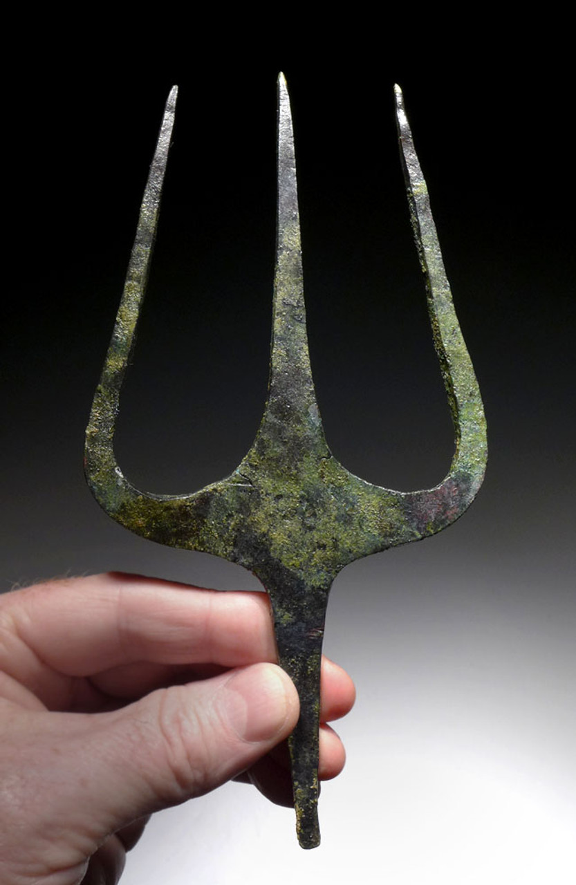 MUSEUM-CLASS LARGE ANCIENT BRONZE TRIDENT FROM THE NEAR EASTERN LURISTAN CULTURE *NE190
