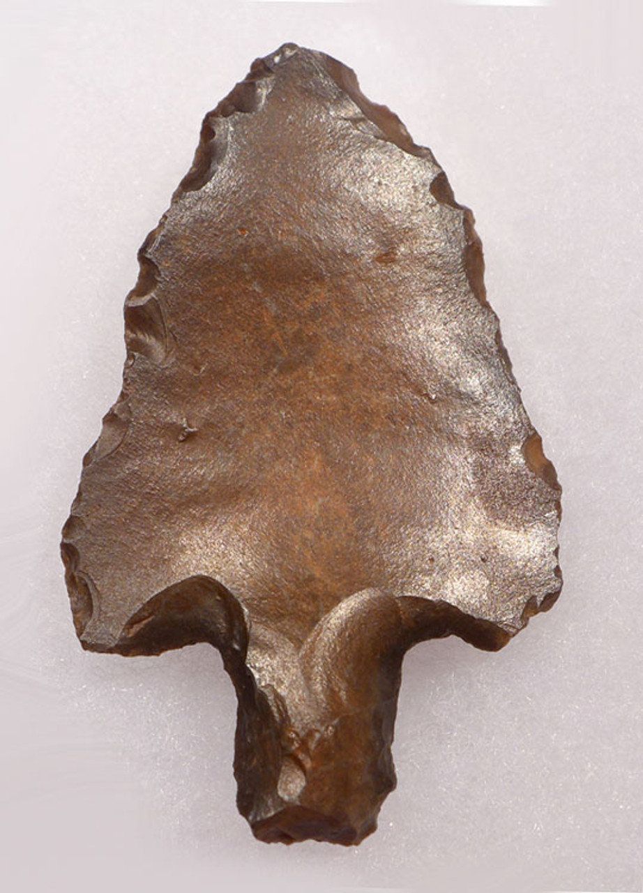 EXTREMELY FINE SYMMETRICAL LARGE MIDDLE PALEOLITHIC ATERIAN TANGED POINT - OLDEST KNOWN ARROWHEAD *AT088