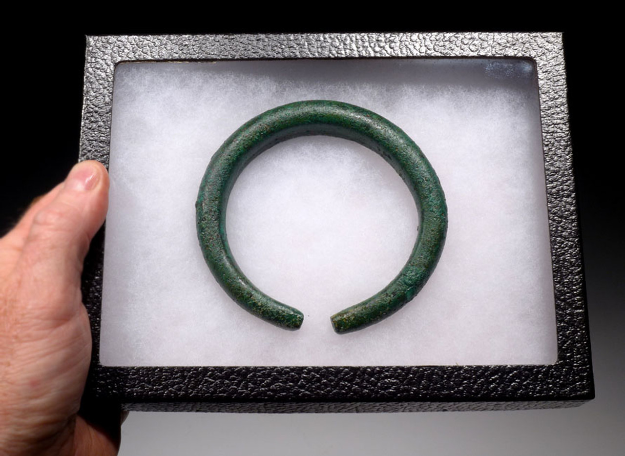 MASSIVE ANCIENT LURISTAN BRONZE NEAR EASTERN BANGLE BRACELET *NEX001