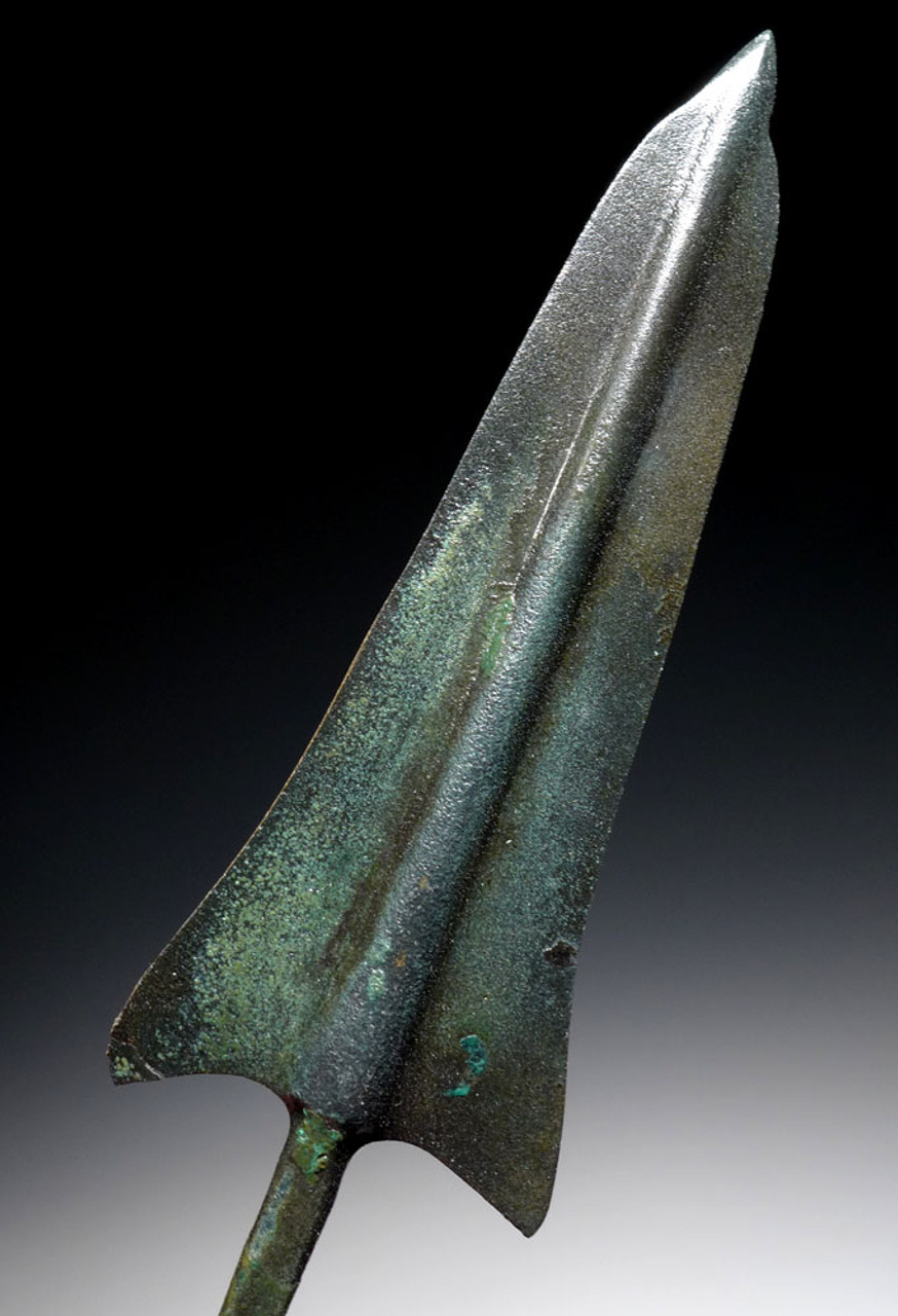 LARGE LURISTAN ANCIENT BRONZE BARBED JAVELIN SPEARHEAD *NEPC009