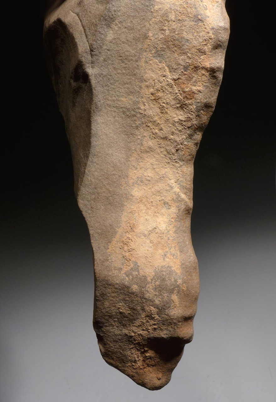 LARGE MUSEUM CLASS PREHISTORIC ACHEULEAN HAND AXE WITH EXTRAORDINARY ARTISTIC FEATURES *ACH285