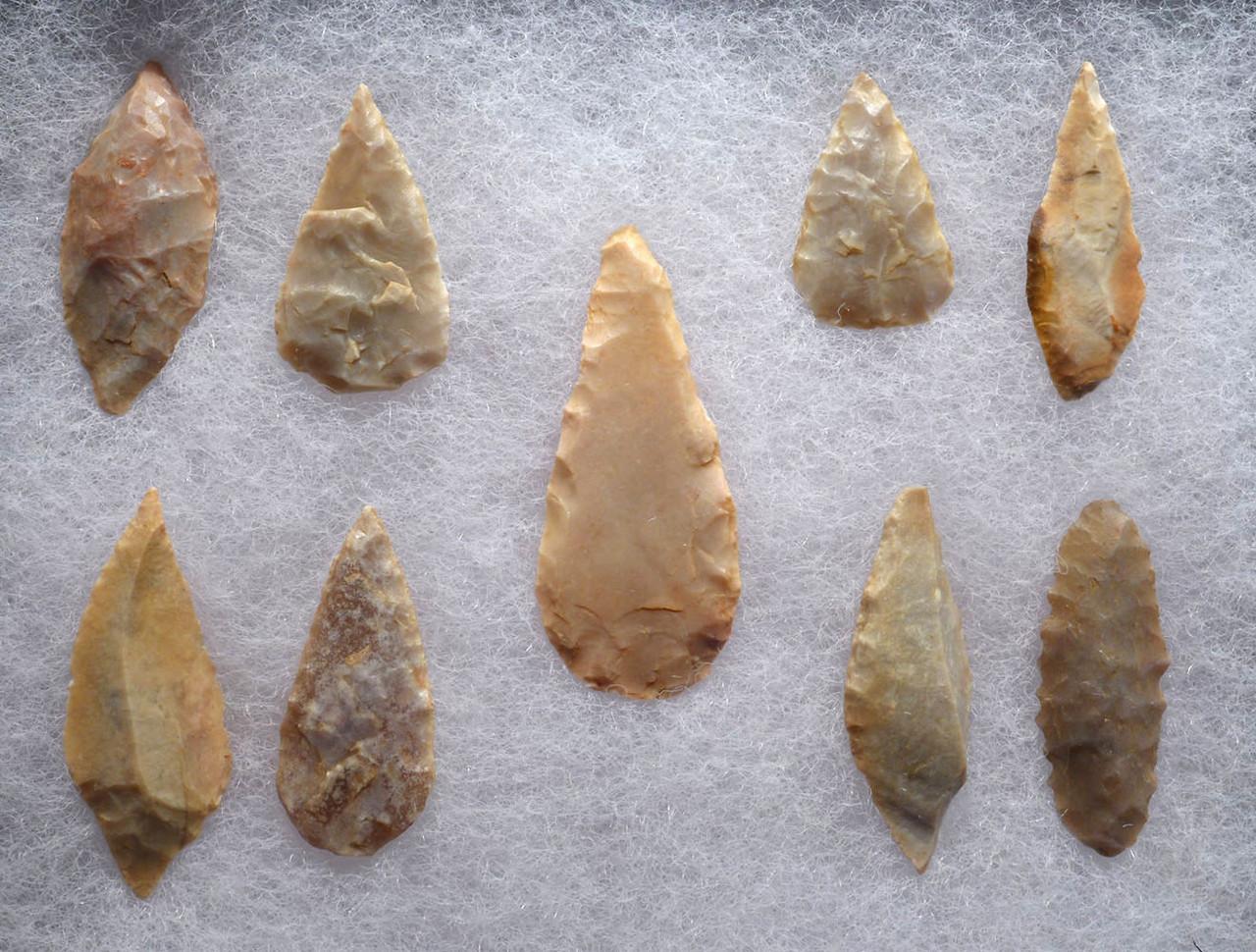 NINE EXCEPTIONAL MICROLITHS CAPSIAN AFRICAN NEOLITHIC ARROWHEADS *CAP234
