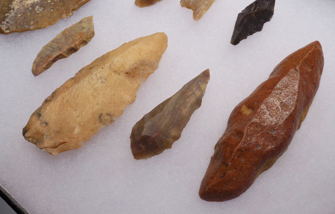 SAMPLER COLLECTION OF VARIOUS CAPSIAN AFRICAN NEOLITHIC STONE TOOLS *CAP231