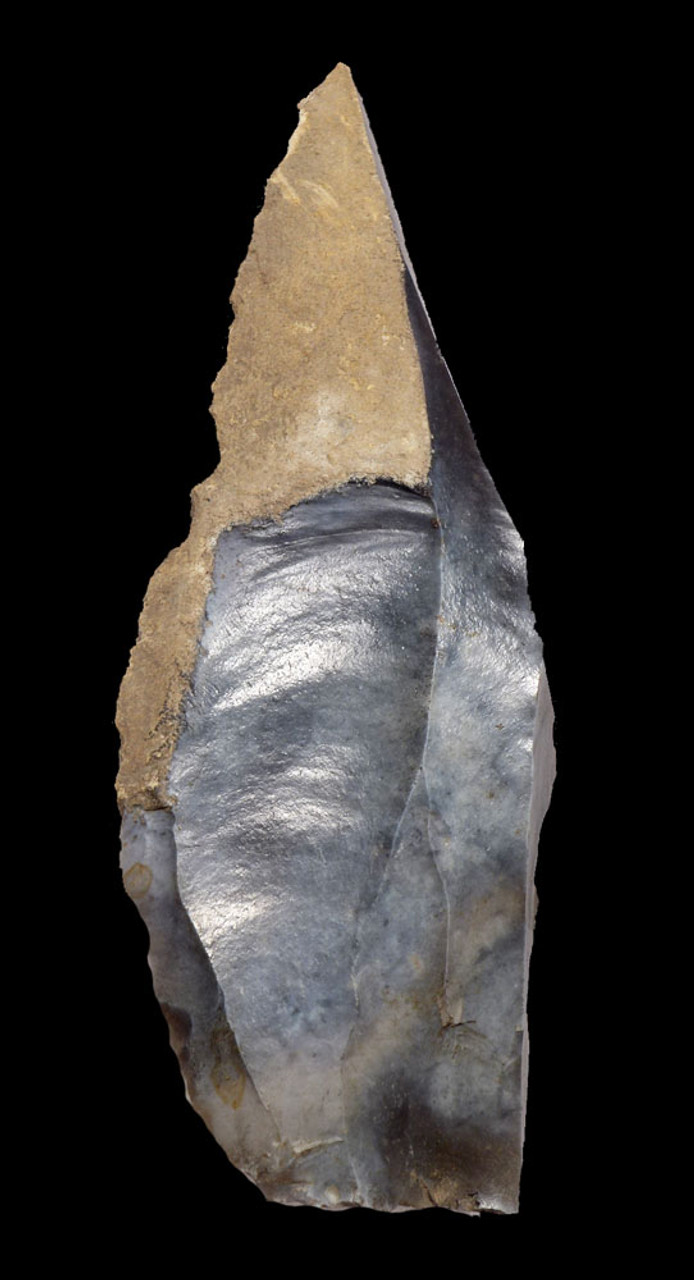 FINEST LARGE NEOLITHIC FLINT KNIFE FROM THE WORLD-FAMOUS SPIENNES SITE OF BELGIUM  *N181