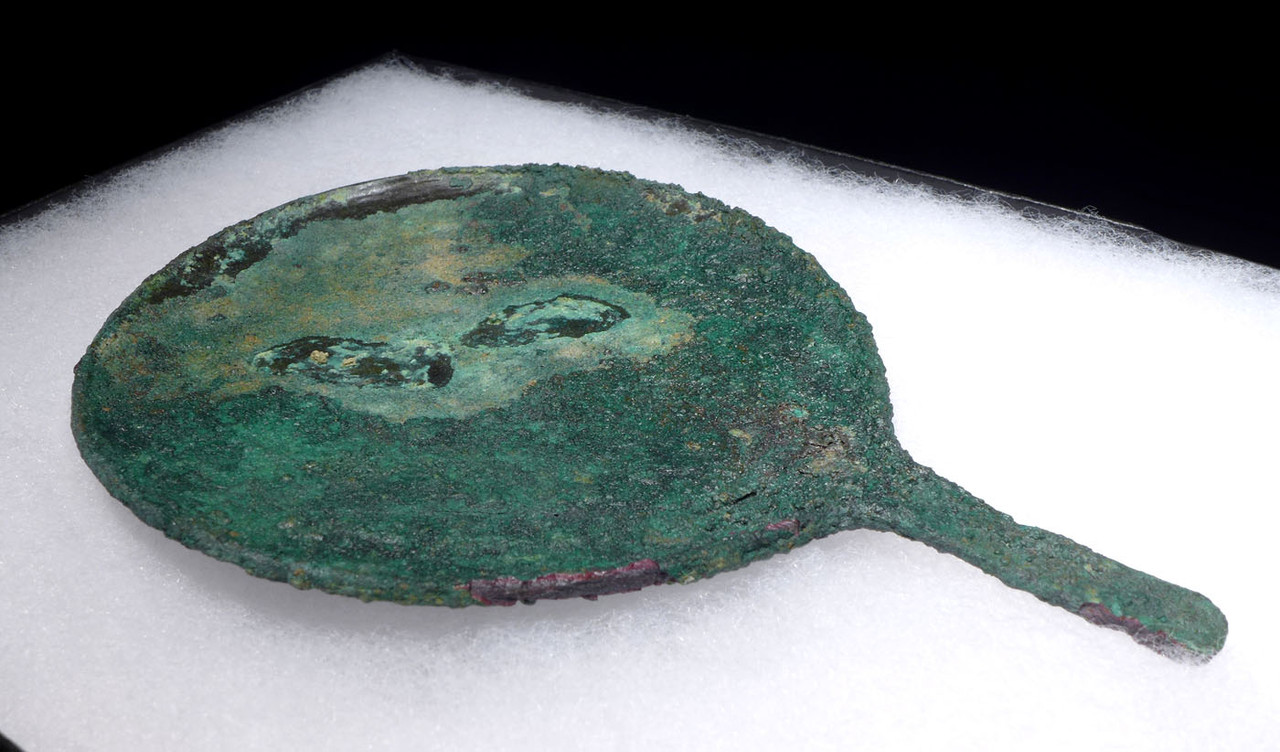 LARGE ANCIENT BRONZE VANITY MIRROR FROM THE LURISTAN NEAR EASTERN CULTURE  *LUR139