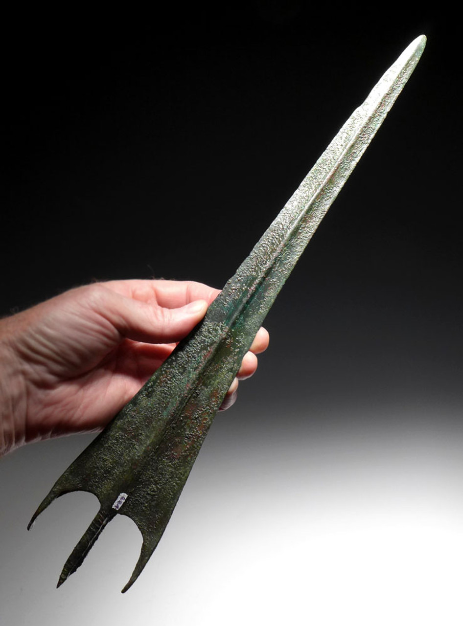 SWALLOWTAIL LURISTAN BRONZE SWORD WITH SIGNS OF BATTLE USE*NEPC018