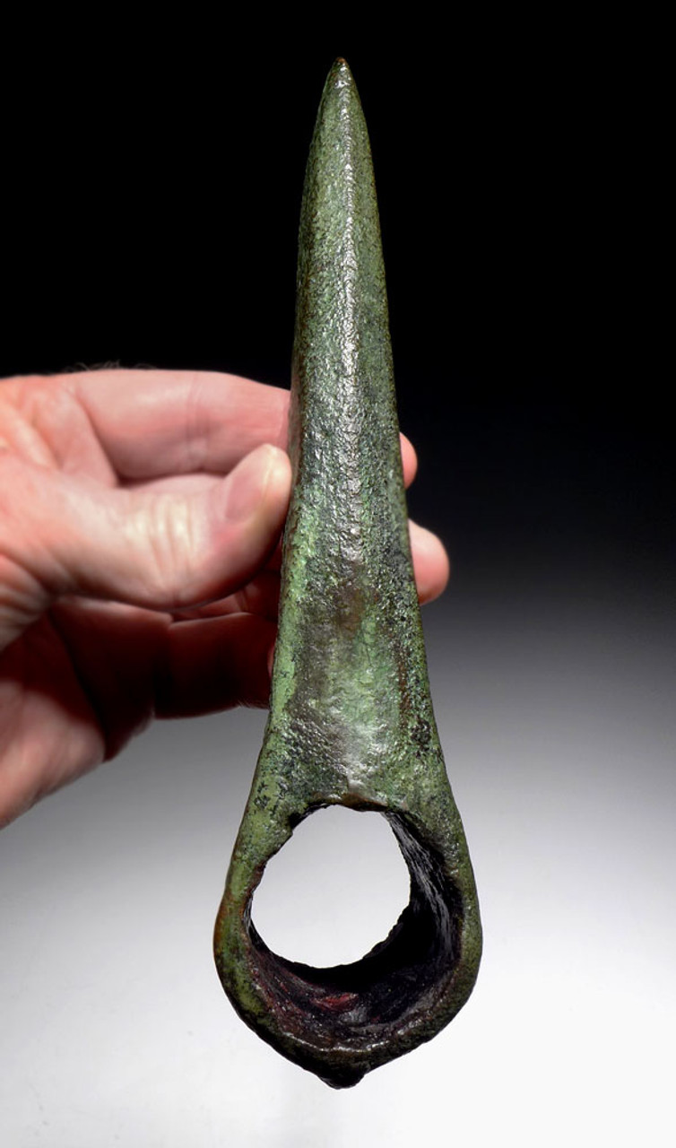 ARMOR PIERCING FUNCTIONAL ANCIENT BRONZE LURISTAN WAR AXE FROM THE NEAR EAST  *LUR143