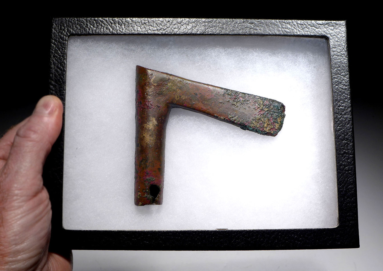 COLORFUL ARMOR-PIERCING LURISTAN BRONZE AXE FROM THE ANCIENT NEAR EAST  *LUR147