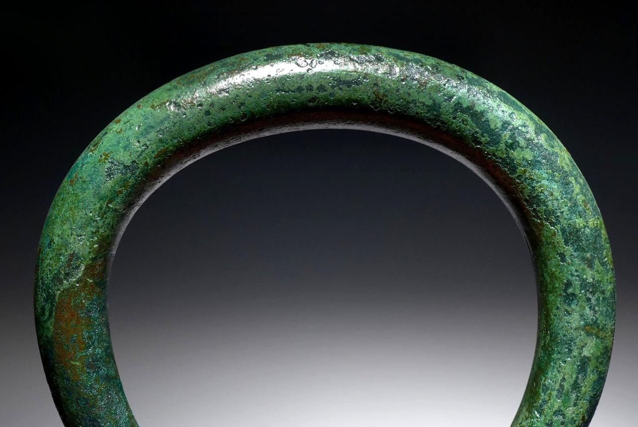 OUR LARGEST EVER MASSIVE SOLID LURISTAN BRONZE ANCIENT PRESTIGE BANGLE BRACELET / ANKLET  *LUR145